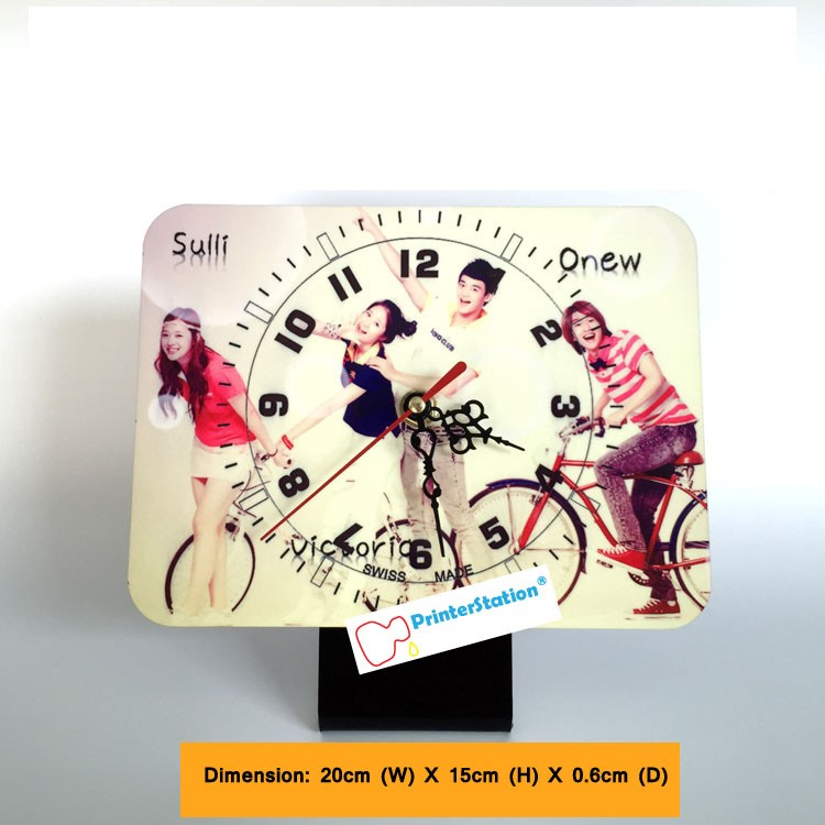 Personalised Rectangular Clock