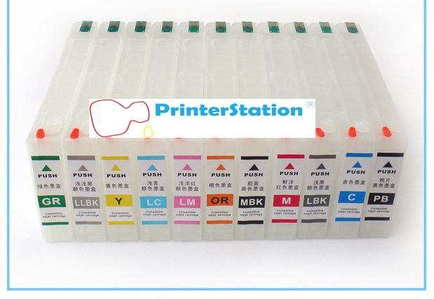 Refillable cartridges for epson 4000 4910