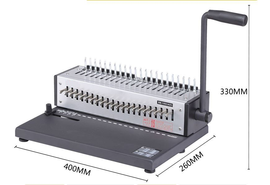 21 holes comb binding machine