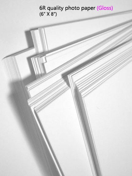 6R quality photo paper (Gloss)