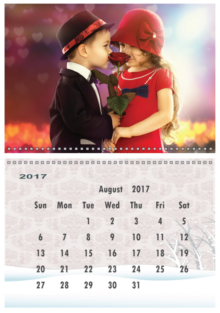 Personalised A4 calendar 2017-2018