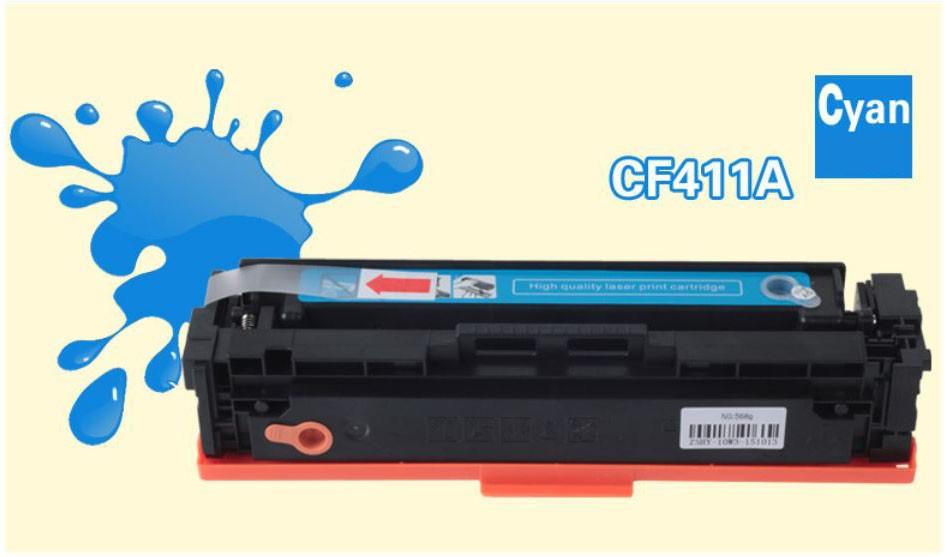 Refillable toner cartridge (cyan) for HP M452DN