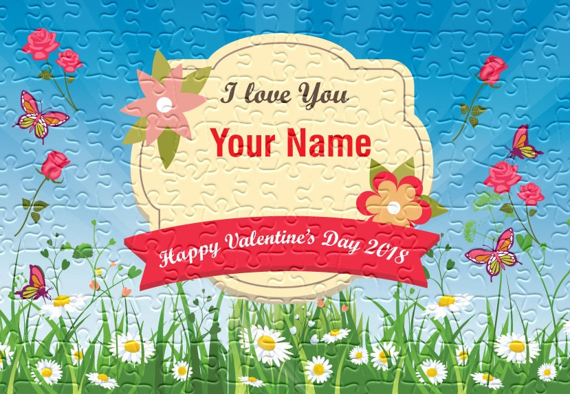 Personalised Valentine's day jigsaw