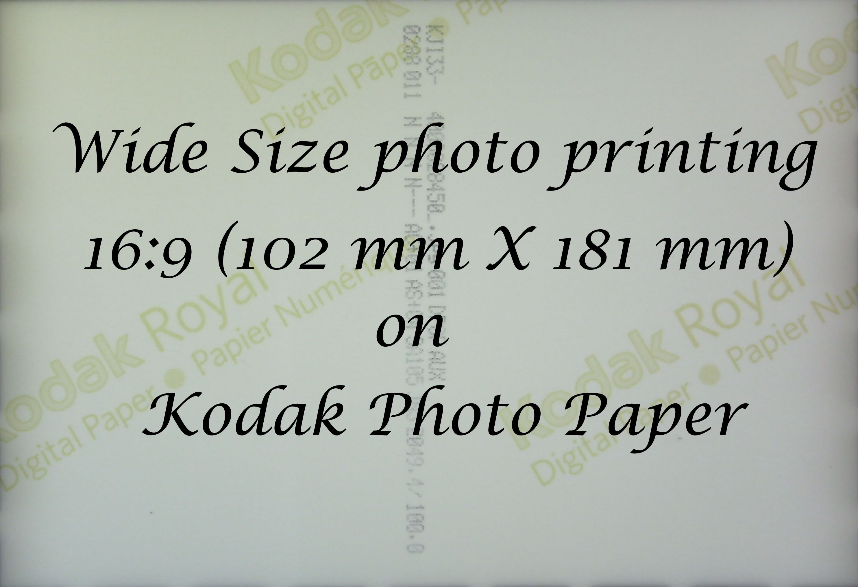 16:9 Wide Size printing