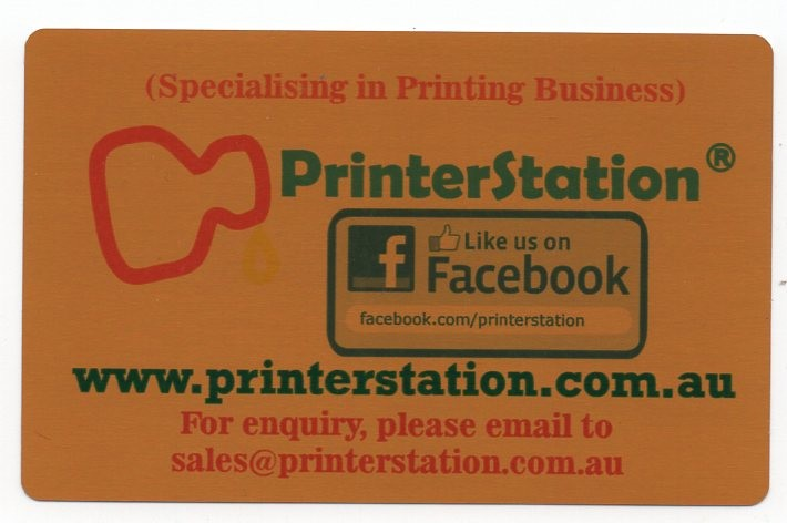 Metal Business Card (Gold, Front Only)