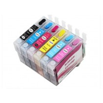 Refillable Ink Cartridges Pack for Epson T50, 1410, Artisan 1430 Suitable for 81N, 82N Ink System