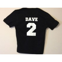 Personalised Colored T shirt with number and name