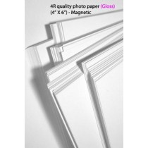 4R glossy magnetic photo paper