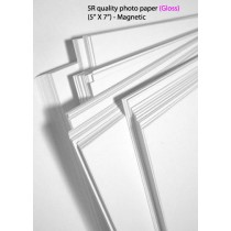 5R glossy magnetic photo paper