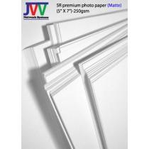 5R premium photo paper (matte)