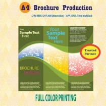 a4 brochure printing - double side
