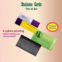 business card printing - front and back