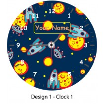 personalised kids circular clock