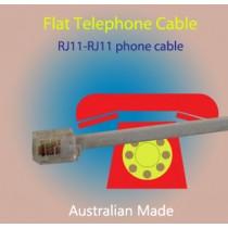 RJ11 6P4C Flat Telephone Cable