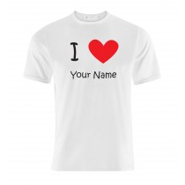 Personalised Love (Your Name/City or Country Name) White T shirt