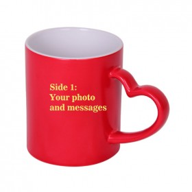 Personalised Magic Heart Handle Coffee Mug